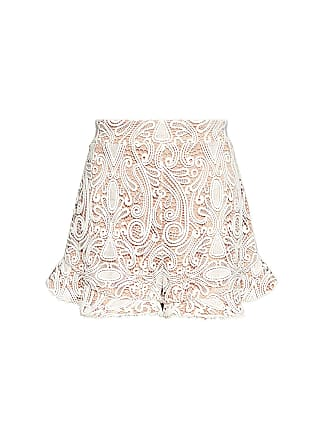 Alexis Barron High-rise Lace Ruffle Shorts White