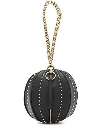 Balmain Studded leather clutch