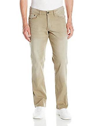 Izod Izod Mens Comfort Stretch Denim Jeans (Regular,Straight, and Relaxed Fit), Khaki, 32Wx30L