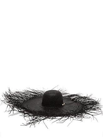 Sensi Studio Lady Ibiza Shell Embellished Straw Hat - Womens - Black