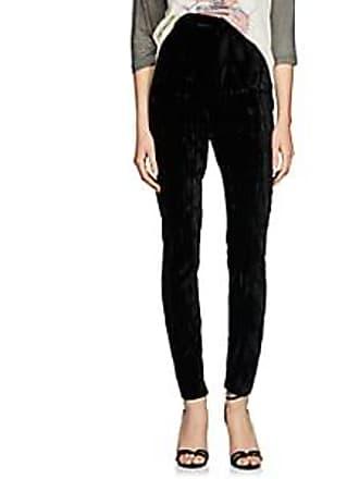 18c874d320c Saint Laurent Womens Wrinkled Velvet Cigarette Pants - Black Size 36 FR