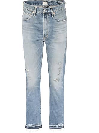 Citizens Of Humanity Dree high-waisted cropped cotton jeans