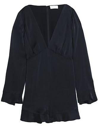 1724031f541f Zimmermann Zimmermann Woman Ruffle-trimmed Washed-silk Playsuit Black Size 1