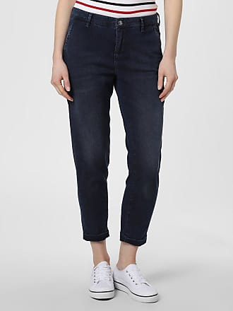 MAC Damen Jeans - Chino blau