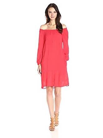 44d23da1 Velvet BY GRAHAM & SPENCER Womens Dobby Challis Peasant Dress, Vixen, Small