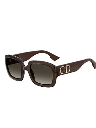 98ddef047d3a Dior Square Sunglasses w  Oversized Logo Temples