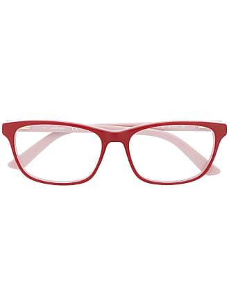 Calvin Klein Armação de óculos quadrada - Vermelho