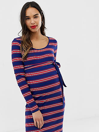 dbc06d29b7 Mama Licious Mamalicious maternity stripe rib jersey dress