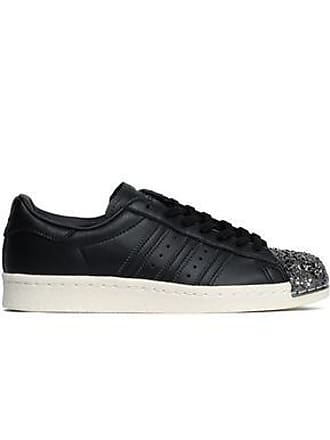 big sale fb5e1 181fc adidas Adidas Originals Woman Embellished Perforated Leather Sneakers Black  Size 4.5