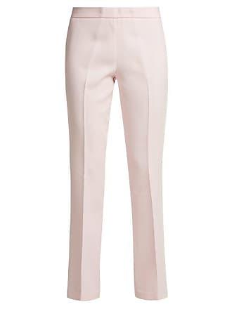 Giambattista Valli Crepe Slim Fit Trousers - Womens - Pink