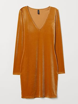 H&M Velour Dress - Yellow
