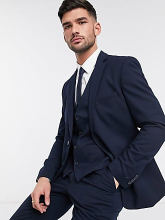 French Connection wedding slim fit flannel suit jacket-Blue