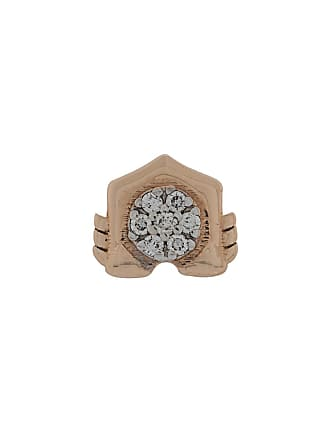 Kismet by Milka Brinco único de ouro rosê 14k com diamante - Rose Gold