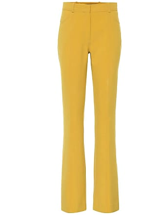 Victoria Beckham Mid-rise flared wool-blend pants