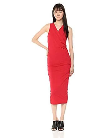 2999f3f6d Michael Stars Womens Cotton Lycra Racerback midi Dress, Salsa Medium