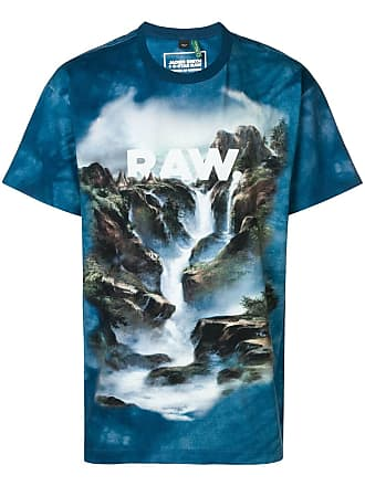 G-Star Raw Research Cyber water printed T-shirt - Azul