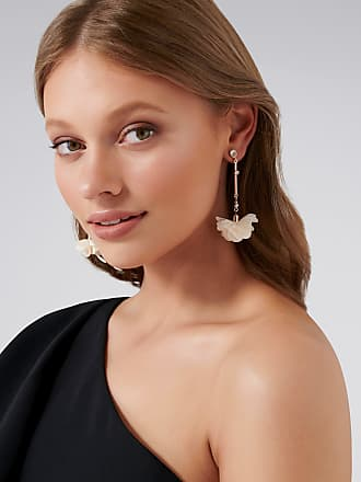 Forever New Olympia Soft Petal Drop Earrings - Ivory - 00