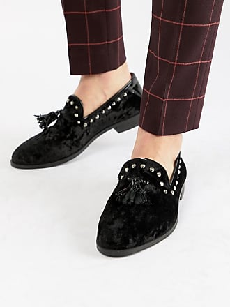 House Of Hounds Mocasines con tachuelas y borlas en terciopelo negro Raptor de House Of Hounds