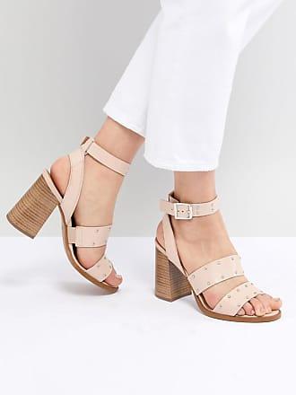 Asos ASOS - TESSIE - Sandaler i skinn med nitar - Warm pink leather 409b8f9d42113