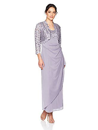 Alex Evenings Womens Empire Waist Bolero Jacket Dress (Petite and Regular Sizes), Pure Orchid, 14P
