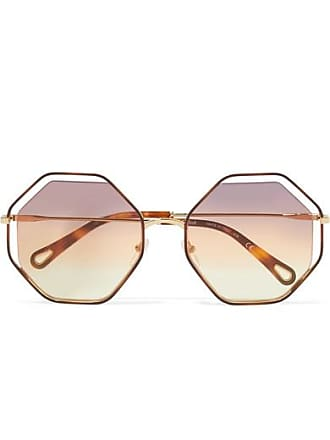 070211f175f Chloé Poppy Octagon-frame Gold-tone And Tortoiseshell Acetate Sunglasses -  Brown