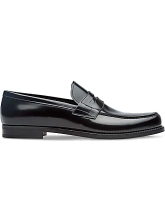 Prada Brushed leather loafers - Preto