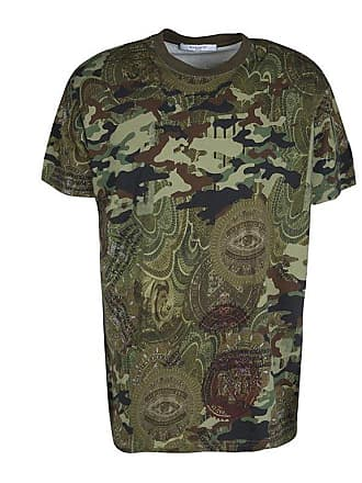 c6353e7d2238 Givenchy Green Camouflage Print Crew Neck Columbian Fit Cotton T-shirt M