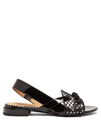 34479505885b Toga Archives Asymmetric Patent Leather Sandals - Womens - Black
