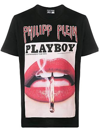 Philipp Plein Camiseta Playboy - Preto