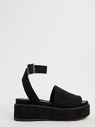 bacae697d Asos Wide Fit Taylor flatform sandals - Black