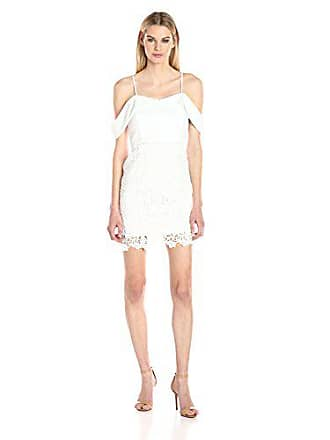 J.O.A. JOA Womens Cold Shoulder Dress, White, Large