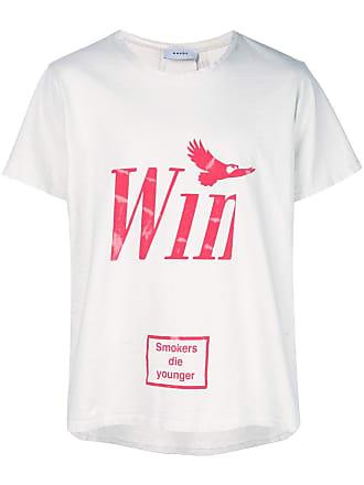 Rhude Camiseta decote careca com estampa - Branco