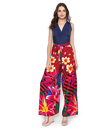 Lucy in the Sky Calca pantalona envelope rosa floral