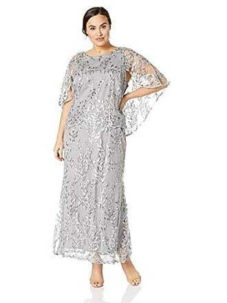 82d93de70b8 Brianna Womens Plus Size Embellished Sequin Gown with Capelt Top
