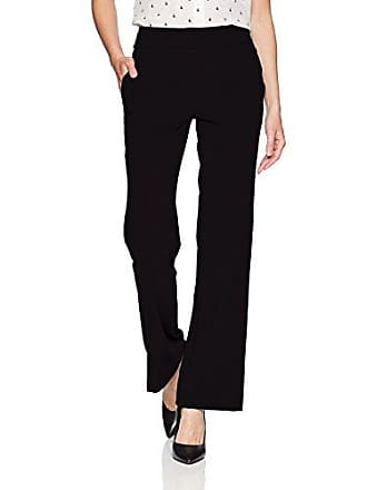 76d83a2542 Chelsea & Theodore Womens Woven Pant with Extended Waistband and Slash  Pockets, Black, ...