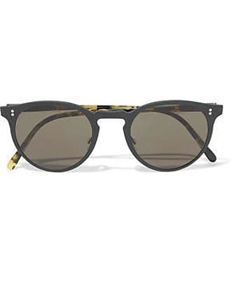Oliver Peoples Oliver Peoples Woman Round-frame Coated-metal And Acetate Sunglasses Black Size