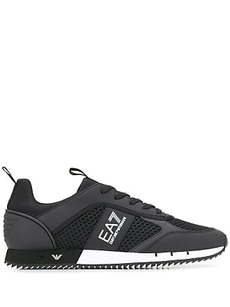 Emporio Armani side logo sneakers - Black