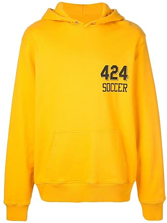 424 Moletom com logo e capuz - Amarelo