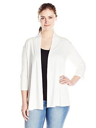 Karen Kane Womens Plus Size Molly Cardigan, Off- Off-White 2X