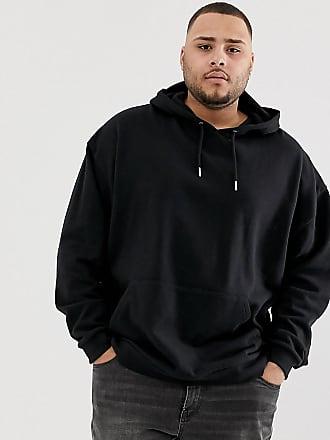 Asos Plus oversized hoodie in black - Black