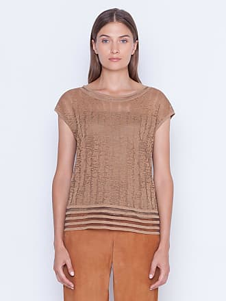 Akris Knit pullover in linen silk with scribble jacquard