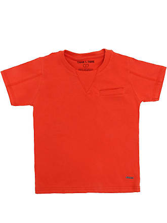 Tigor T. Tigre Camiseta Tigor T. Tigre Manga Curta Menino Laranja
