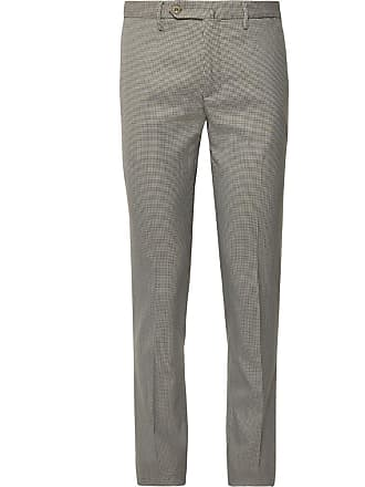 Incotex Slim-fit Puppytooth Woven Trousers - Neutral