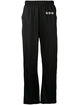 a1db15bfeca SSS World Corp Calça esportiva com logo bordado - Preto