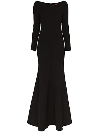 d346db3861 Solace London Perrine long-sleeved flared maxi dress - Black