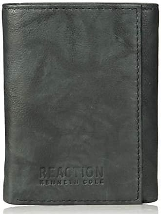 Kenneth Cole Reaction Kenneth Cole Reaction Mens Wallet - RFID Blocking Security Genuine Leather Slim Trifold with ID Window and Card Slots, -black, One sizee
