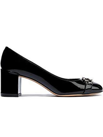 6dd90e198ca Salvatore Ferragamo Salvatore Ferragamo Woman Embellished Patent-leather  Pumps Black Size 5.5