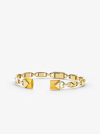 8a89733f0b959 Michael Kors 14k Gold-Plated Sterling Silver Open Hinge Bangle