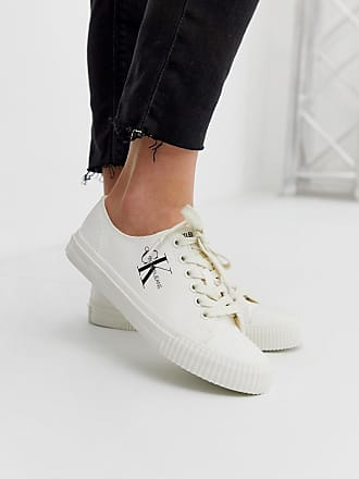 1e3908cd679ea Calvin Klein Ireland - Scarpe di tela bianche - Bianco