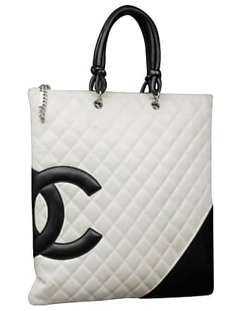2a66cba9b30c Chanel Cambon Ligne Flat 226873 White X Black Quilted Leather Tote